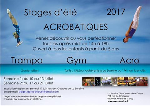 flyer stage ete 2017